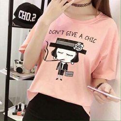 Msat45: áo thun nữ cô gái màu hồng m, l