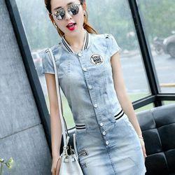 Đầm jean cao cấp hàng bảo công ty  có sẵn   s170