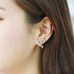 Bông tai nữ mặt cáo xi cao cấp (ko dị ứng) ab521