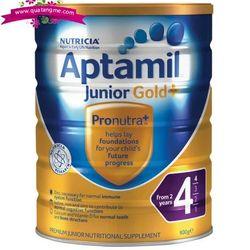 Aptamil gold+ 4 junior nutritional supplement from 2 years 900g - sữa dinh dưỡng tăng cường miễn dịch cho trẻ trên 2 tuổi