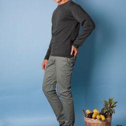 Nb25 áo thun nam tay dài xám đen