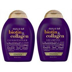 Bộ dầu gội và dầu xả ogx thick full biotin collagen 385ml