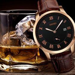 Đồng hồ kim dây da s.kmei 1003