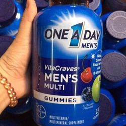 Kẹo dẻo vitamin one a day men vitacraves gummies 230 viên