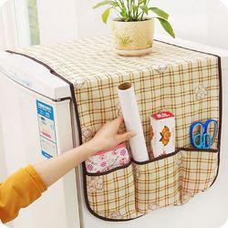 Miếng phủ tủ lạnh sọc ô ms 16476