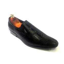 Giày da nam vân cá sấu gcs02