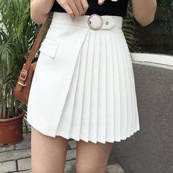 Chân váy kaki xếp li hn1353