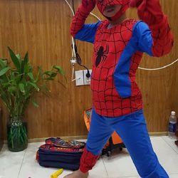Quần áo siêu nhân nhện dài trẻ em