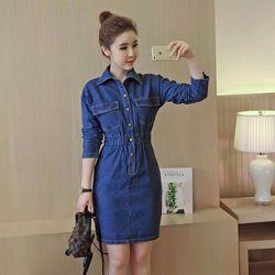 Đầm Jean  phong cách có sẵn nhé khách  S160