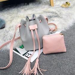Túi đeo chéo nữ thời trang kèm ví nhỏ xinh, thiết kế mới năng động, mẫu Hàn Quốc