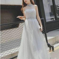 Đầm maxi cổ yếm phối ren - A29746 giá sỉ