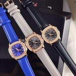 Đồng hồ nữ dây da nhiều màu vuông - giá sỉ