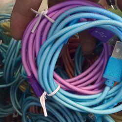 Cáp sạc Iphone 5 dây lưới crom nhiều màu đẹp giá sỉ