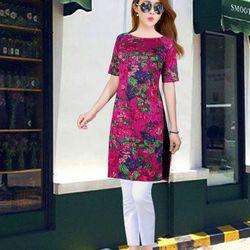 áo dài cách tân họa tết hoa chùm