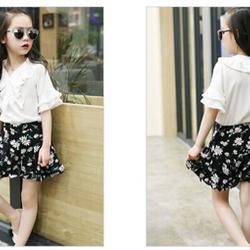 50B-SD145 Bộ quần hoa áo trắng