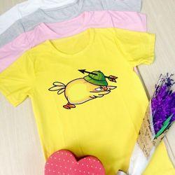 áo thun chicken siêu dễ thương dành cho phái nữ