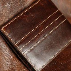 Ví cầm tay nam da bò 100% thiết kế Handmade đẹp long lanh - Mã T-21