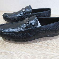 Giày mọi dập vân cá sấu xích ngang gu xì giá sỉ