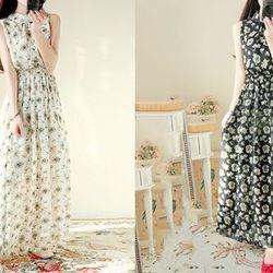 Đầm maxi hoa nữ dáng dài - ms 16590