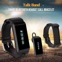 Vòng đeo tay thông minh kiêm tai nghe bluetooth K2 màu đen giá sỉ