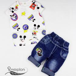 Bộ bé trai Micky + quần jean