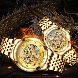 Đồng hồ cơ rồng phượng kèm hộp giá sỉ