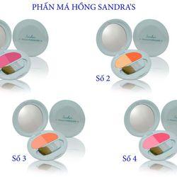 Phấn má hồng thời trang Sandra's Twinking Powder Blusher 1,2,3,4