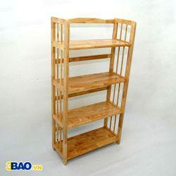Kệ sách gỗ cao su 60(cm) 4 tầng