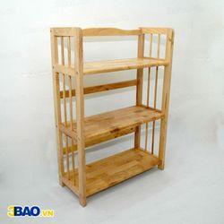 Kệ sách gỗ cao su 60(cm) 3 tầng