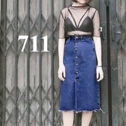 chân váy denim dài 711
