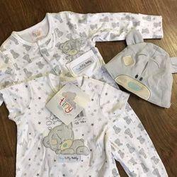 set 3 món bodymũ tiny teddy cho bé sơ sinh
