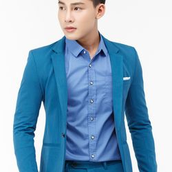 Áo vest nam Titishop AVN114 màu xanh dương cài nút giá sỉ