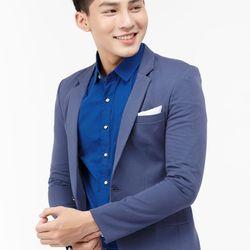 Áo vest nam Titishop AVN116 màu xanh jean đậm cài nút
