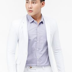 Áo vest nam Titishop AVN113 màu trắng cài nút