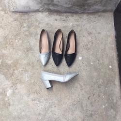Giày cao gót cổ xéo si hoa văn giá sỉ