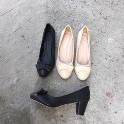 Giày cao gót 5cm nơ mũi bầu giá sỉ