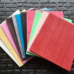 giấy dán tường giả gỗ 3D