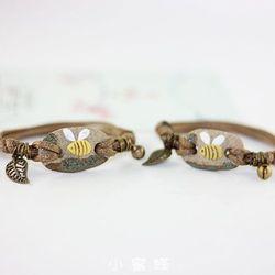 Lắc tay nữ hạt gốm màu sắc AT1399