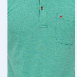 Áo thun nam Titishop AT296 phối túi màu xanh lá - giá sỉ, giá tốt