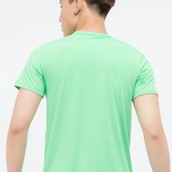 Áo thun Titishop tay ngắn cổ tròn màu xanh lá AT273 - giá sỉ, giá tốt
