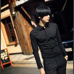 áo sơ mi tay ngắn màu đen giá sỉ
