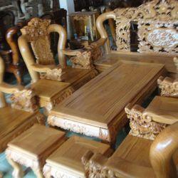 Bộ ghế Rồng đỉnh Gỏ đỏ 10 món tay 12 giá sỉ