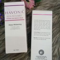 Sữa rửa mặt HAVONA trăng da ngừa mụn 150ml