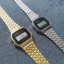 Đồng hồ C.asio A159 (3 màu trắng, vàng, vàng đen)