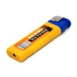 Camera bật lửa màu vàng