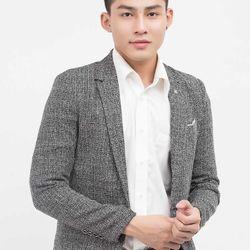 Áo vest NAM Titishop màu xám 1 nút cài AVN49 giá sỉ