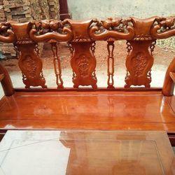 Bộ Bàn Ghế Phòng Khách Gỗ Xoan Ta Cột 10 giá sỉ