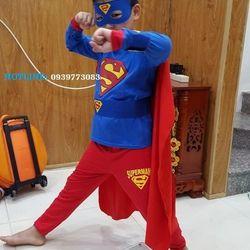 Quần áo siêu nhân Superman dài tay giá sỉ