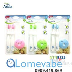 Set bàn chải Next To Nature Infant Training Toothbrush cho trẻ sơ sinh
