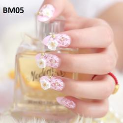 Bộ 24 móng tay giả họa tiết hoa BM05 giá sỉ